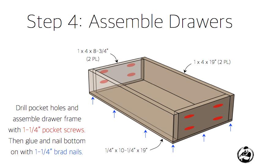 DIY Folding Vanity Plans - Step 4