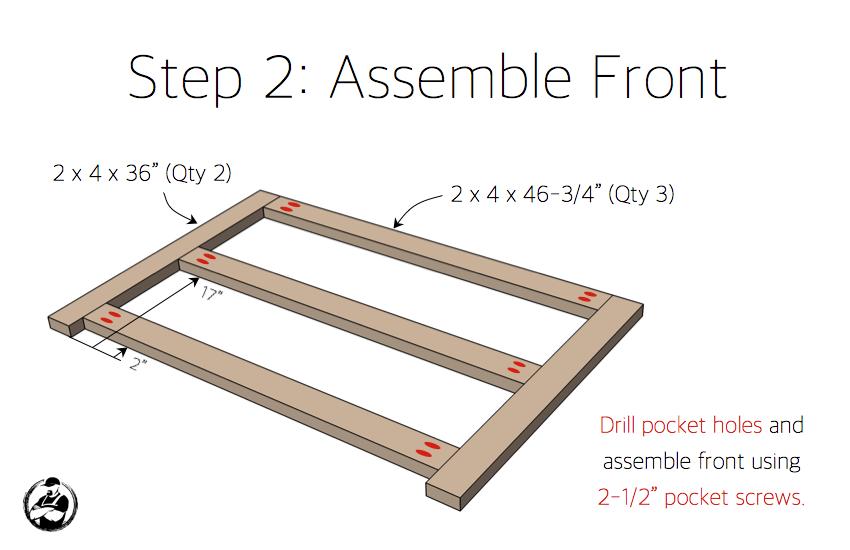 DIY Potting Bench Plans - Step 2