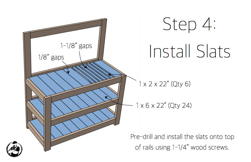 DIY Potting Bench Plans - Step 4