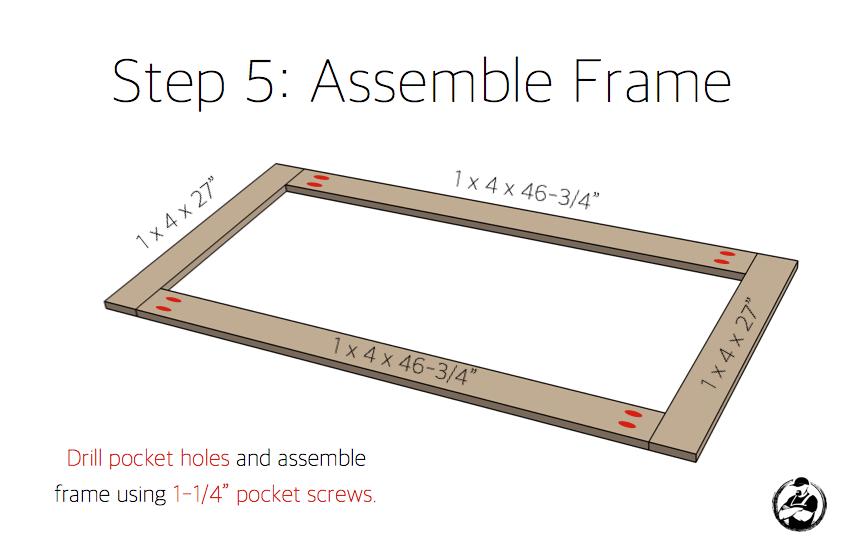 DIY Potting Bench Plans - Step 5