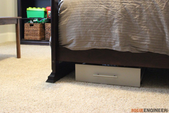 DIY Under Bed Storage Plans - Rogue Engineer 1