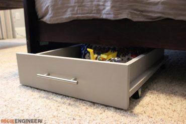 DIY Under Bed Storage Plans - Rogue Engineer 2