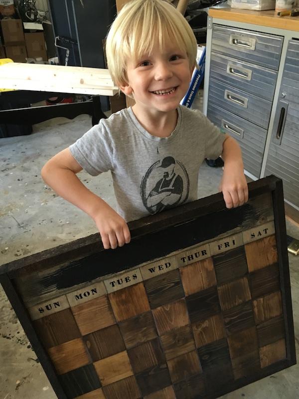 DIY Wood Chalkboard Calendar - Step 10