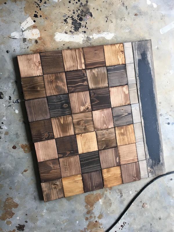 DIY Wood Chalkboard Calendar - Step 2