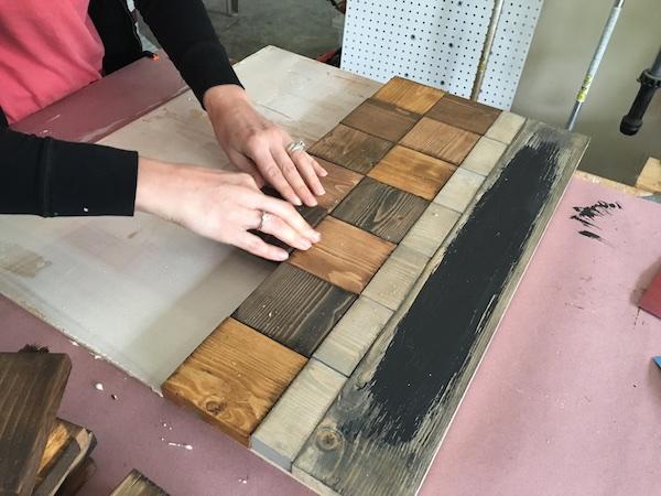 DIY Wood Chalkboard Calendar - Step 5