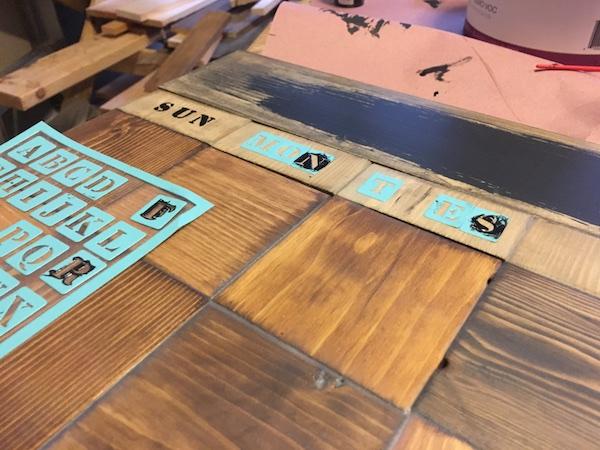 DIY Wood Chalkboard Calendar - Step 7