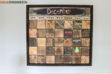 Wood Scrap Calendar Feature