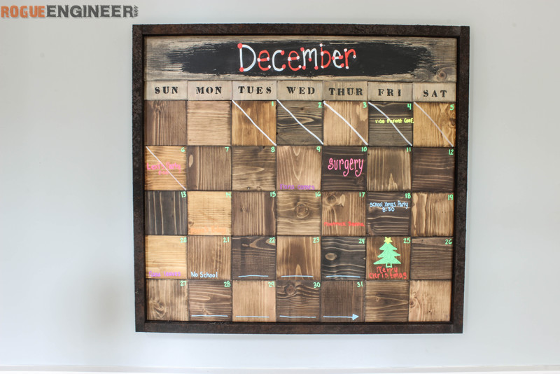 Wood Block Calendar Rogue Engineer