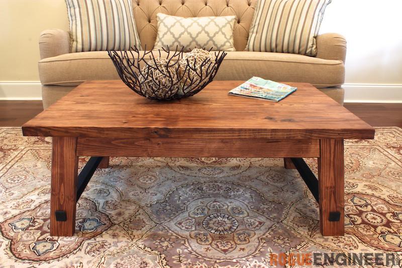 DIY Angled Leg Coffee Table Plans - Rogue Engineer 1