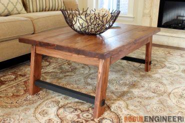 DIY Angled Leg Coffee Table Plans - Rogue Engineer 2