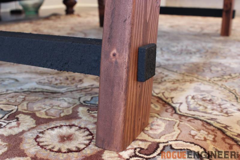 DIY Angled Leg Coffee Table Plans - Rogue Engineer 3