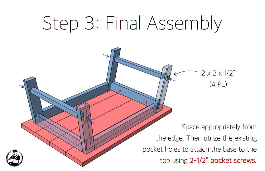 DIY Angled Leg Coffee Table Plans - Step 3