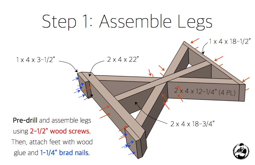 DIY Lybrook Side Table Plans - Step 1