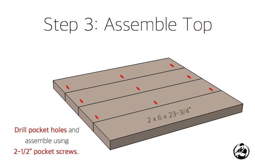 DIY Lybrook Side Table Plans - Step 3