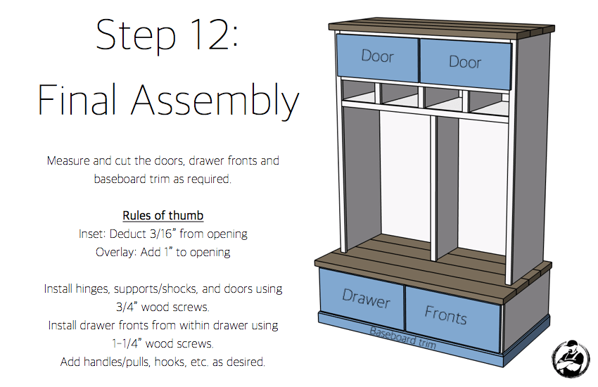 Diy Mud Room Locker Plans Step 12