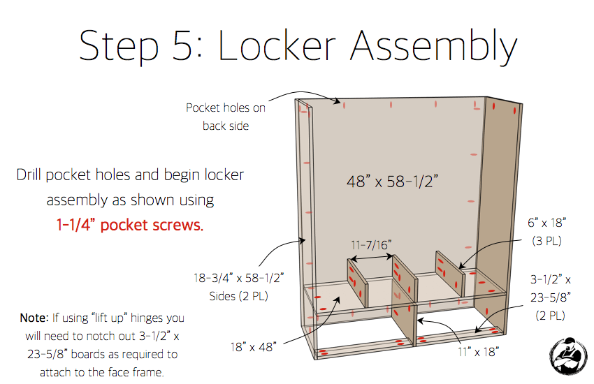 DIY Mud Room Locker Plans - Step 5