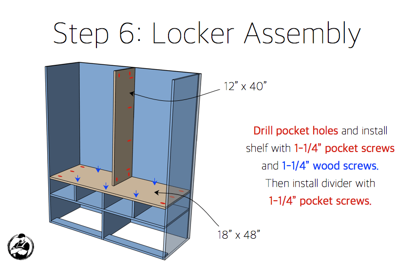 DIY Mud Room Locker Plans - Step 6
