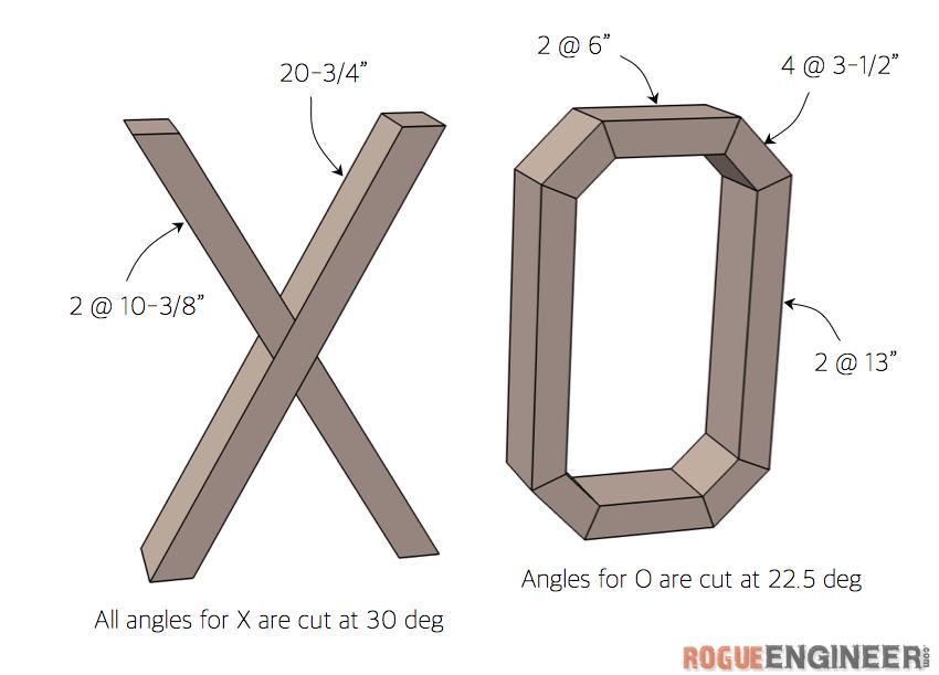 DIY Valentines XO Decor Plans - Rogue Engineer