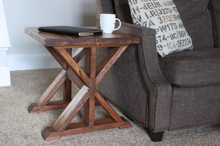 Wood side table design plans