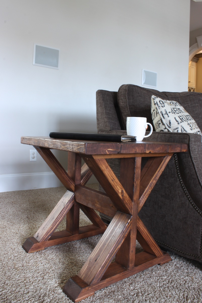 $20 DIY Side Table Plans - Rogue Engineer