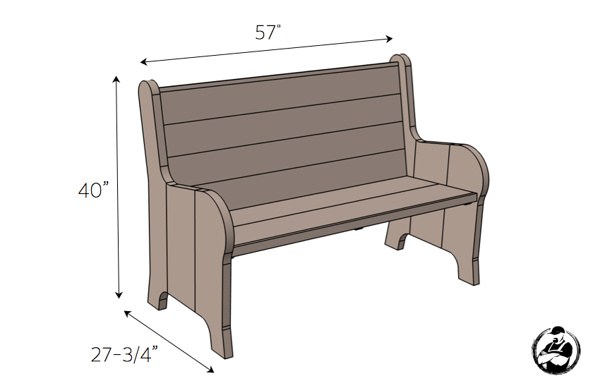 DIY Church Pew Plans - Dimensions