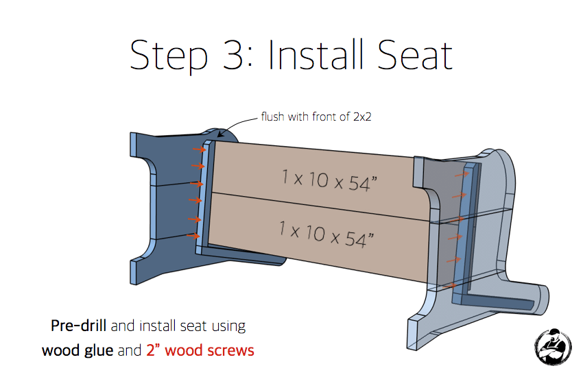 DIY Church Pew Plans - Step 3