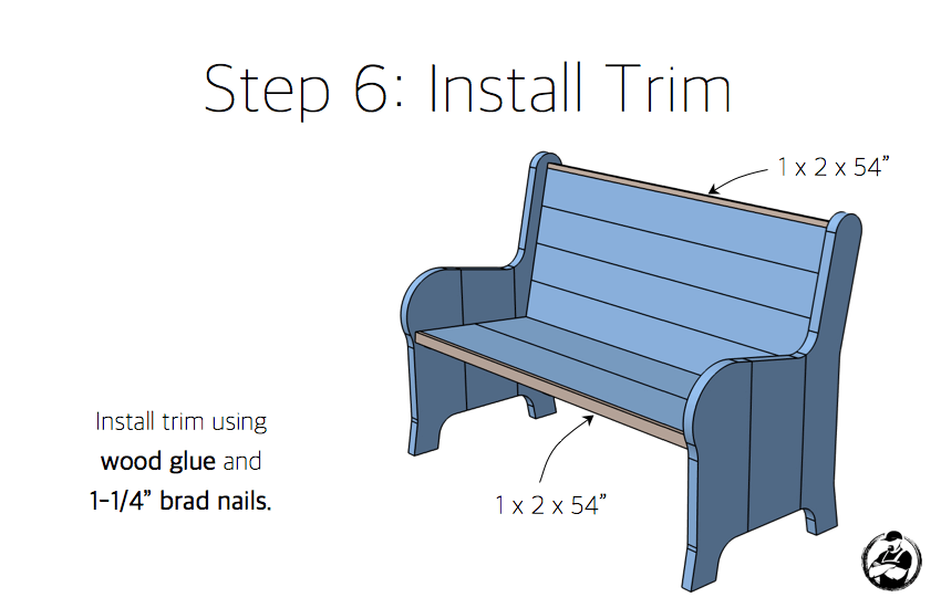 DIY Church Pew Plans - Step 6