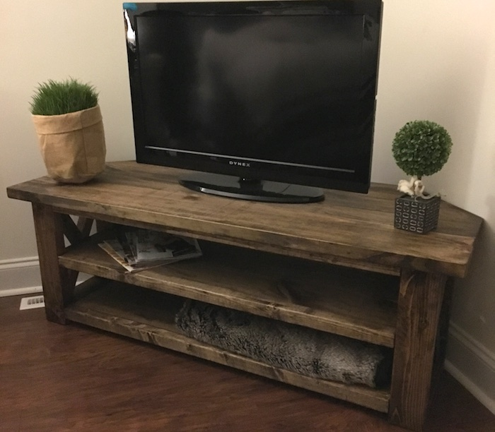 Diy corner media center plans rogue engineer - Media consoles for small spaces plan ...