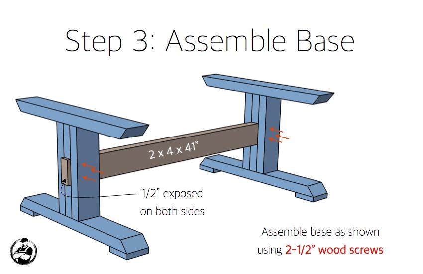 DIY Lybrook Coffee Table Plans - Step 3