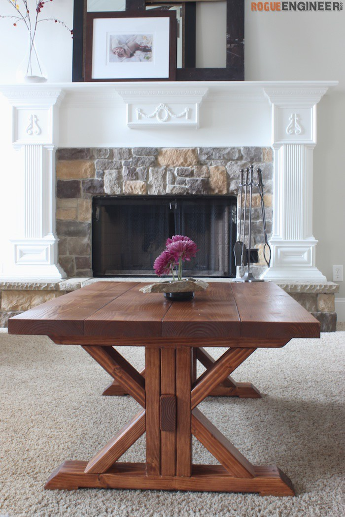 Trestle Coffee Table { Free DIY Plans } Rogue Engineer