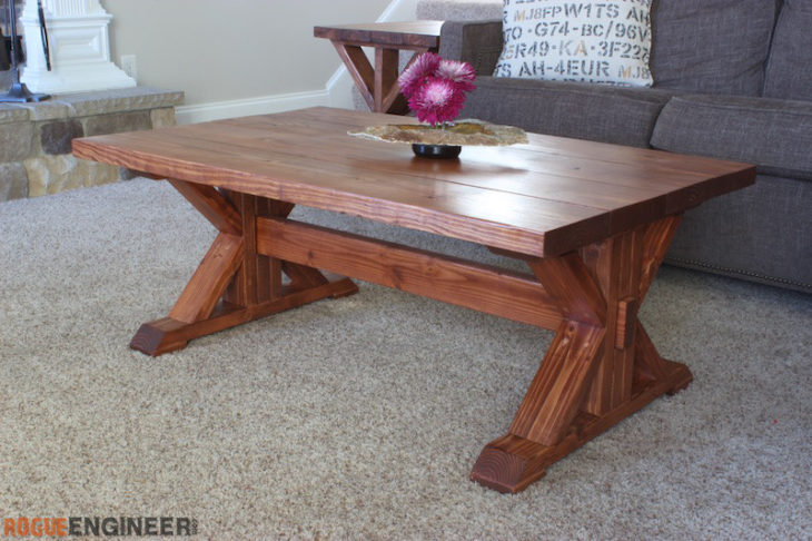 Astounding Trestle Coffee Table Free Diy Plans Rogue Engineer Pabps2019 Chair Design Images Pabps2019Com