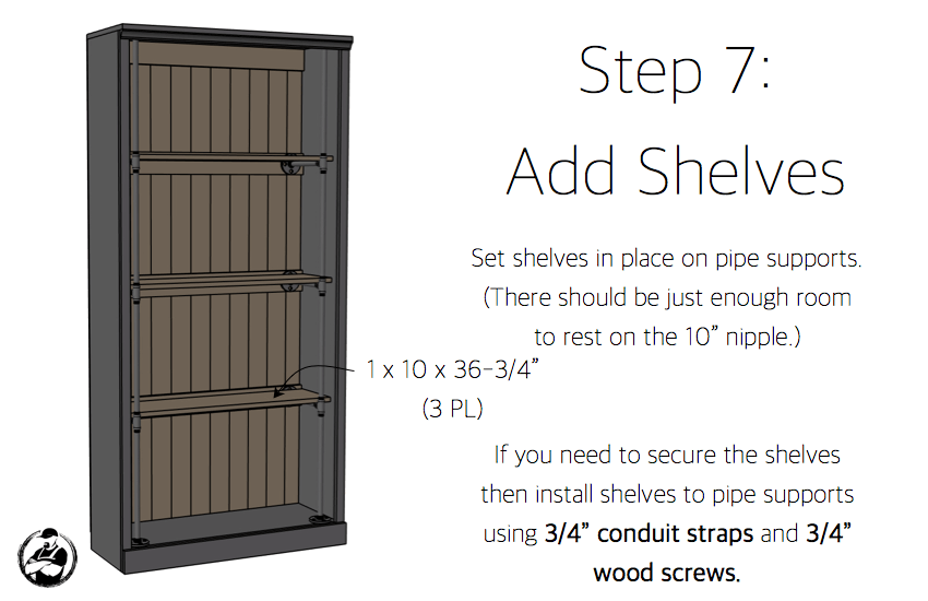 DIY Industrial Bookcase Plans - Step 7