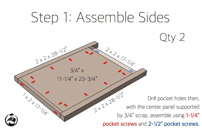 Simpson DIY Nightstand Plans - Step 1