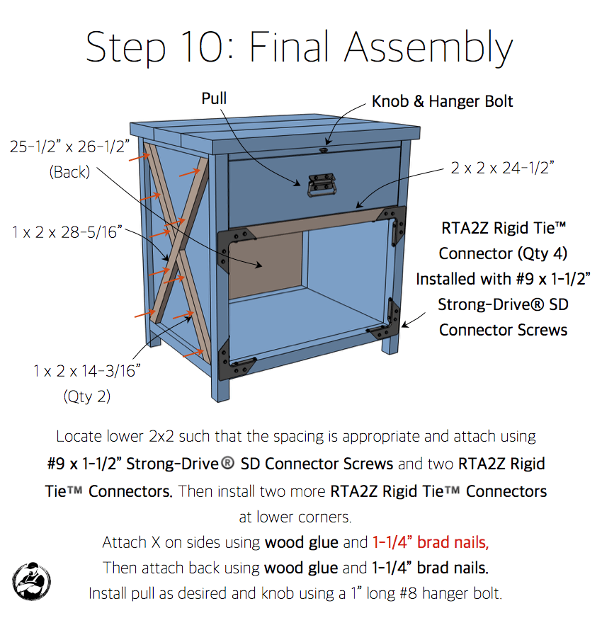 Simpson DIY Nightstand Plans - Step 10