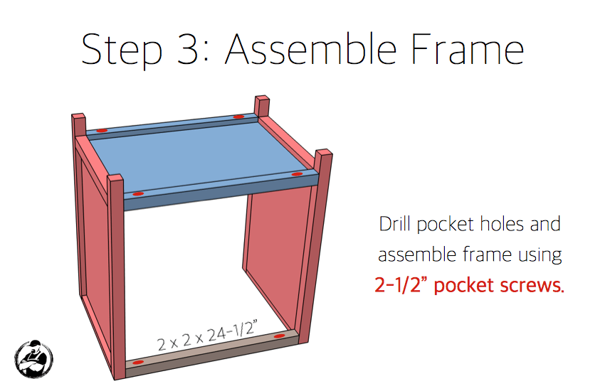 Simpson DIY Nightstand Plans - Step 3