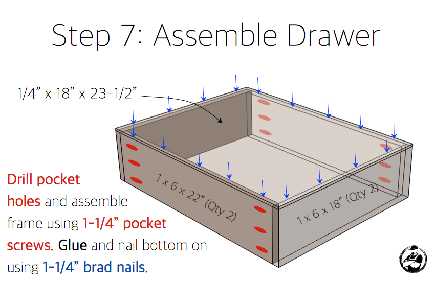 Simpson DIY Nightstand Plans - Step 7