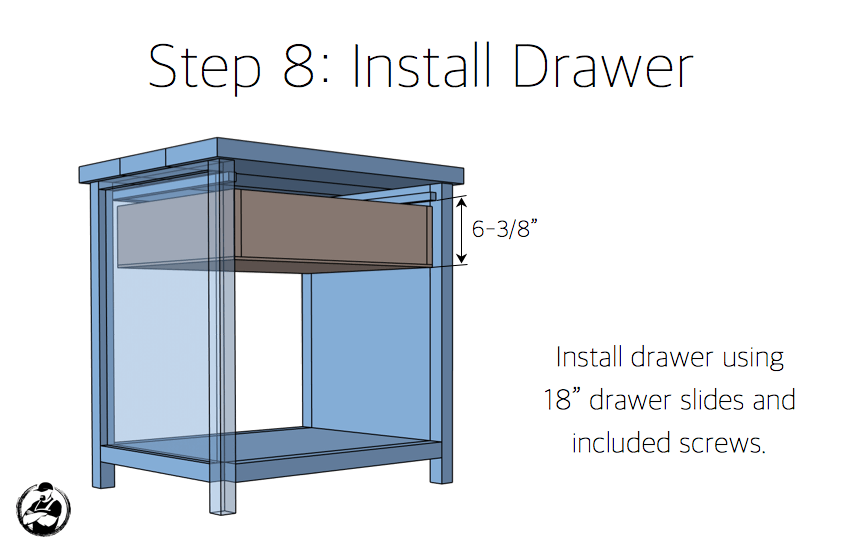 Simpson DIY Nightstand Plans - Step 8