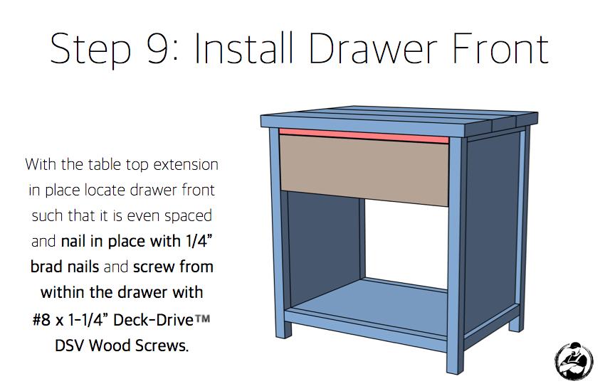 Simpson DIY Nightstand Plans - Step 9