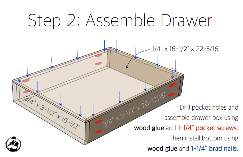 X Base Accent Table Plans - Step 2