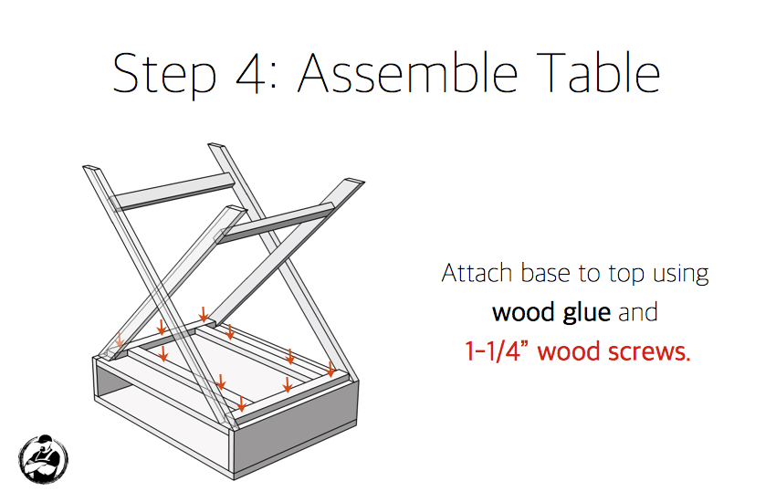 X Base Accent Table Plans - Step 4