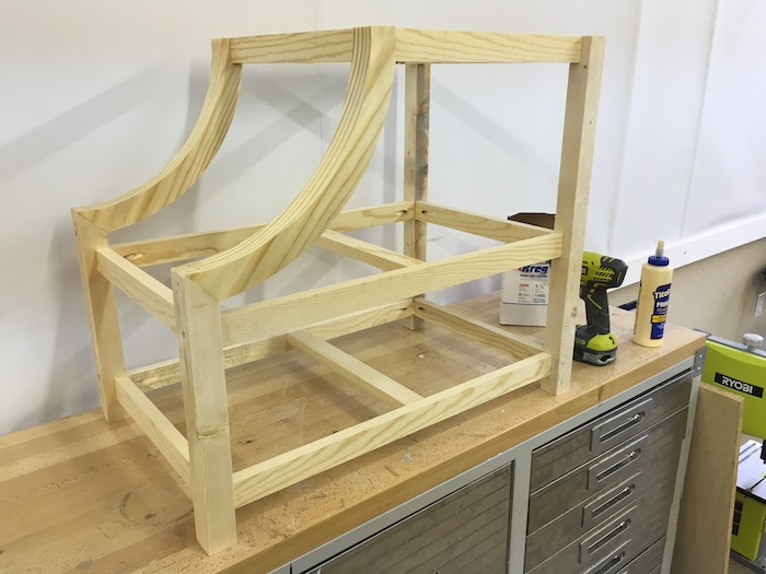 DIY Curved Side Table - 2