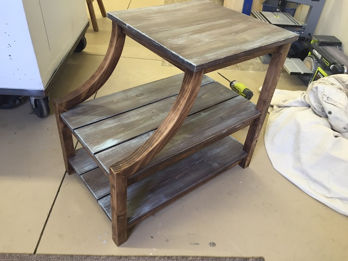 DIY Curved Side Table - 5