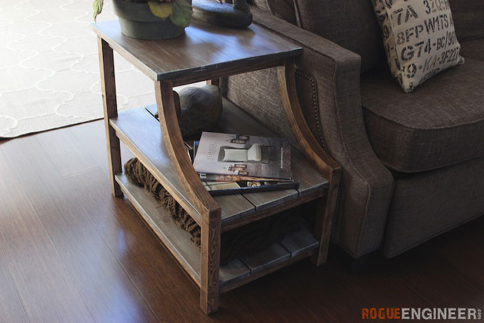 Diy Curved Leg Side Table Plans Rogue Engineer