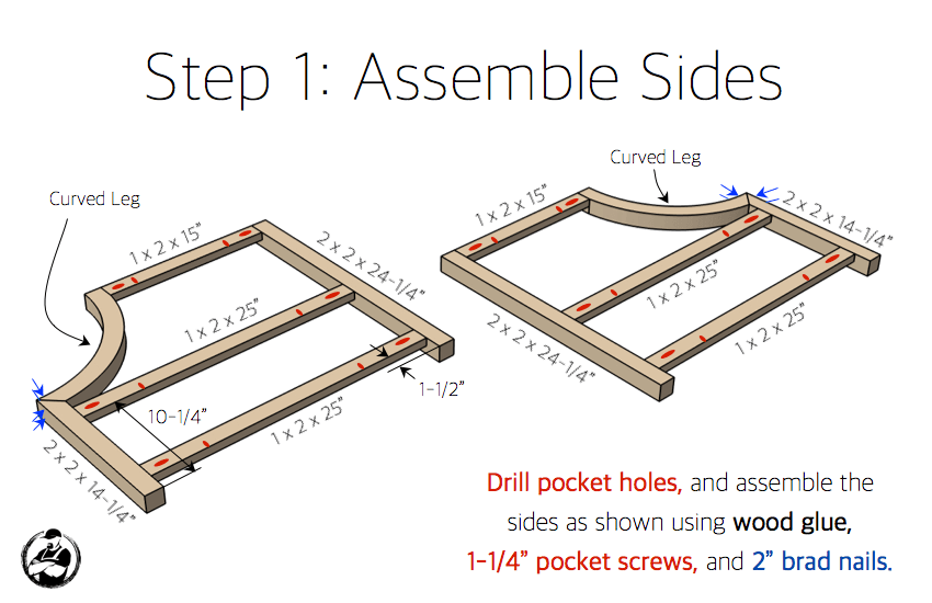 DIY Curved Sided Table Plans - Step 1