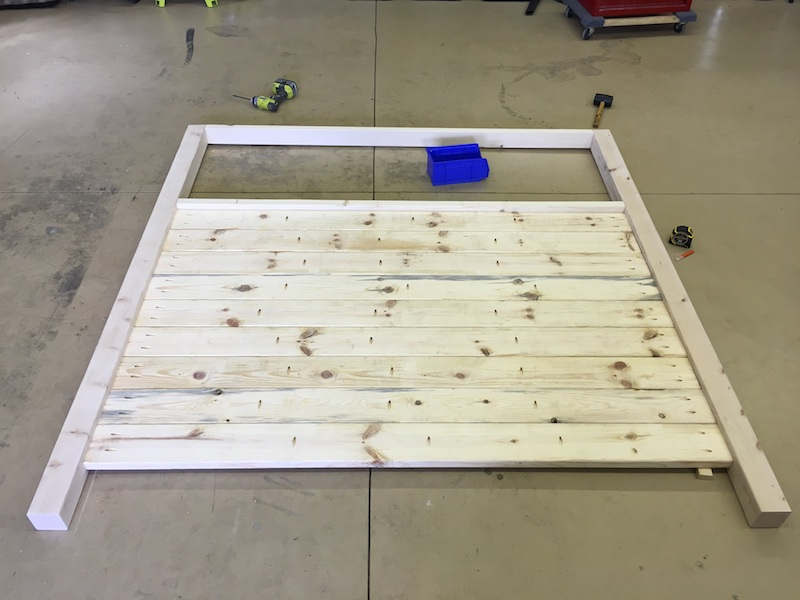 DIY King Size Canopy Bed - Step 2