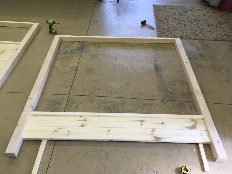 DIY King Size Canopy Bed - Step 3