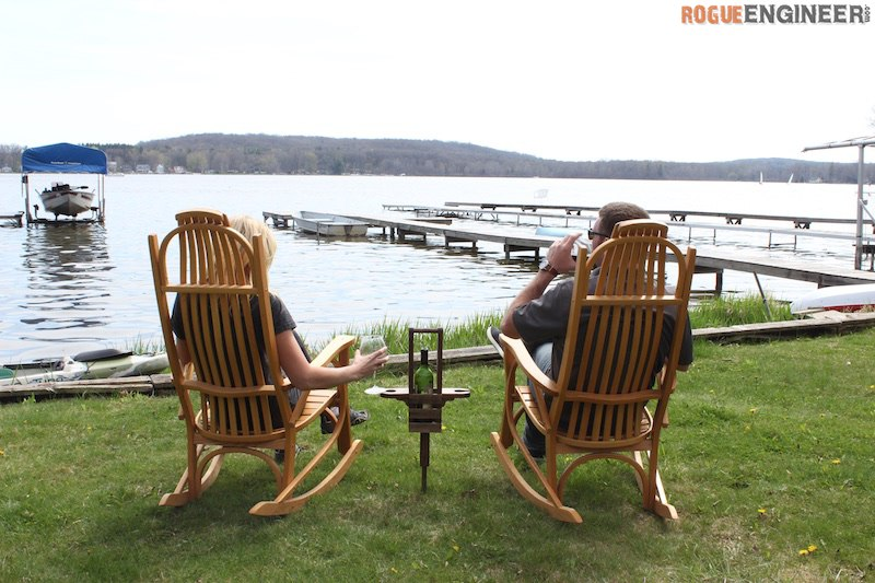 DIY Outdoor Wine Caddy Plans - Rogue Engineer 2