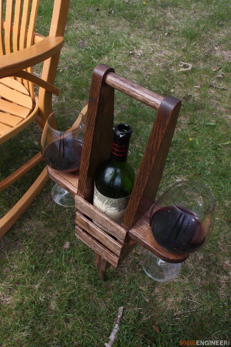 DIY Outdoor Wine Caddy Plans - Rogue Engineer 4