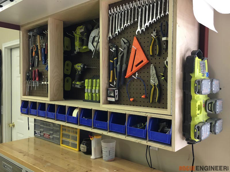 tool storage wall cabinet rogue engineer rh rogueengineer com how to build wall mounted garage cabinets