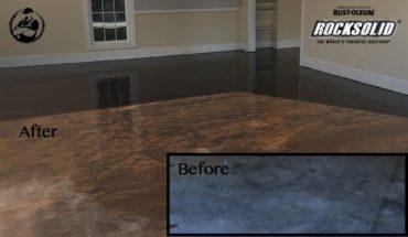 DIY Rock Solid Garage Floor Coating - Before-After